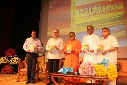 Release of Man's Spiritual Journey by LG Delhi at Lotus Temple New Delhi